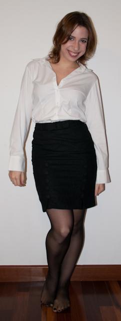 look do dia: como usar argyle com saia lápis e blusa de botão - argyle: estampa xadrez de lozango - blog de moda