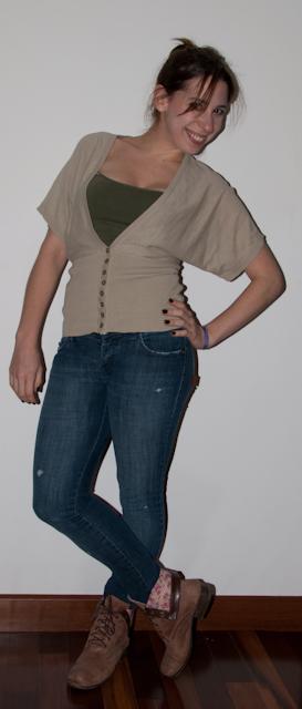 Look do dia: como usar calça jeans com casaco estampado. Blog de moda