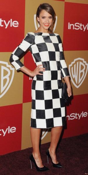 Jessica Alba -Louis Vuitton coleção primavera 2013 - Damier - blog de moda