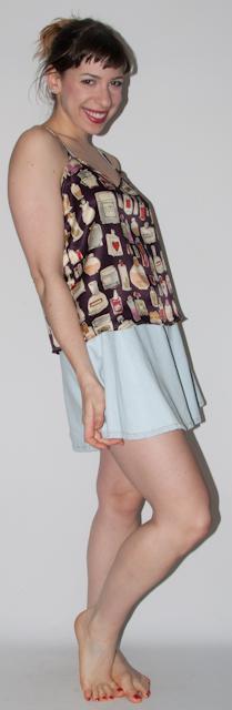look do dia: como usar blusa estampada com saia rodada - blog de moda