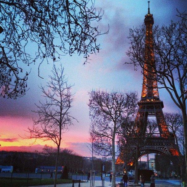 Paris - Fotos de Paris - torre eiffel - por do sol - Instagram