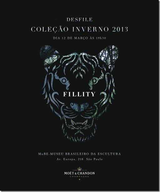 convite desfile fillity mube - notícias de moda