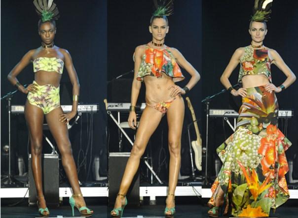 desfile agua de coco - Izabel Goulart - Elle Summer Preview 2013 - blog de moda