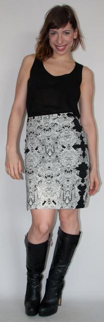 look do dia - como usar bota com saia lapis - blog de moda