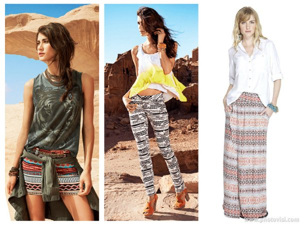 tendência de estampas para o Verão 2014 étnico - dicas de moda