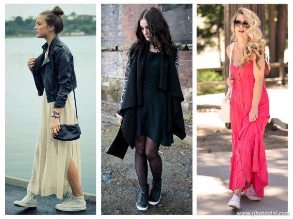 Dicas de moda sobre como usar tênis que compõem looks casuais - vestido 1