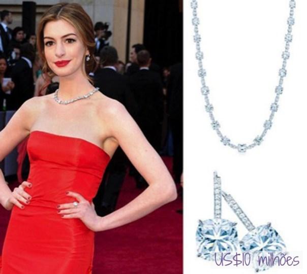 As joias mais caras do mundo no tapete vermelho do Oscar - anne hathaway