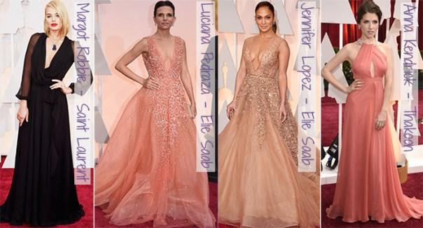 Oscar 2015 - looks do tapete vermelho - decotes