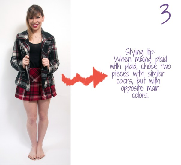 how to wear a plaid skirt 3