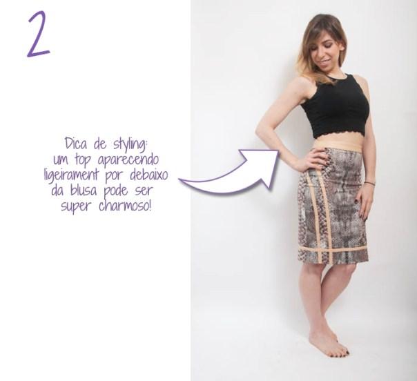 como usar saia midi lapis cintura alta 2