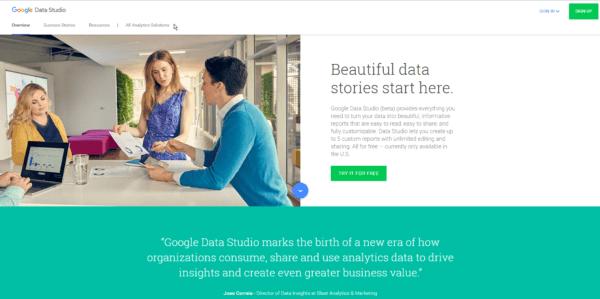 o que é google data studio acesso