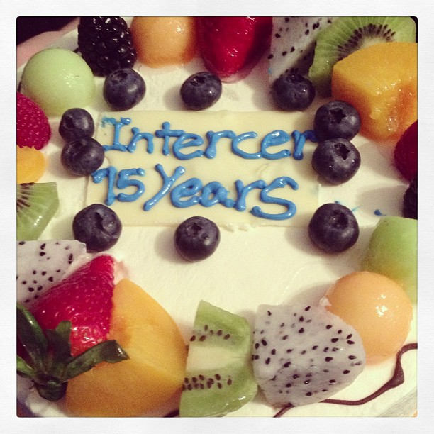 Celebrating Intercer Romanian-English Ministry's 15 Years of Activity with a Fruit Cake!
