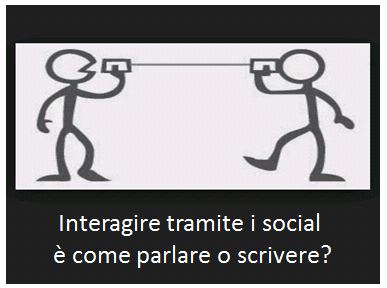 Interagire sui social ...