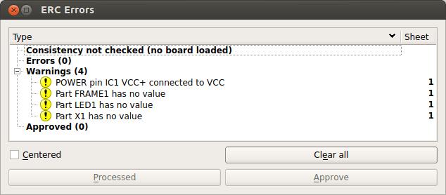 Error list window