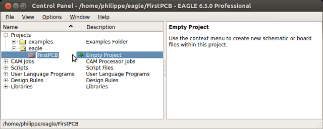 Specify the project name