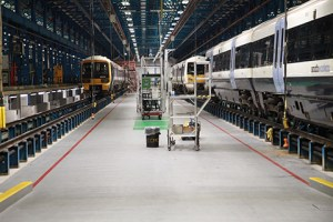 Interior of a rail shed