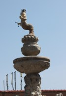 Fishy man statue