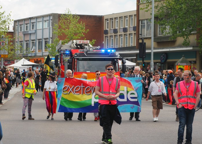 The Mayor of Exeter joining on a fags' parade.