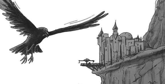 Crow attacking the player