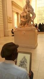 Artist sketching at METS