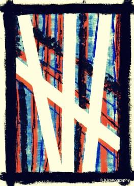 Blue streak abstract