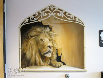 Immanuel Lutheran Church, Lion in niche