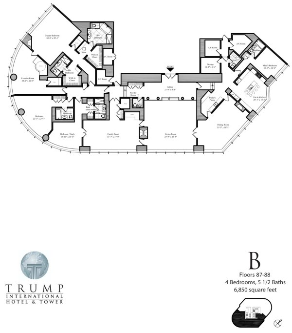trump tower floor plans | TheFloors.Co