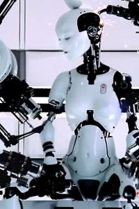 Robot bjork before she's fully dressed... er, assembled..