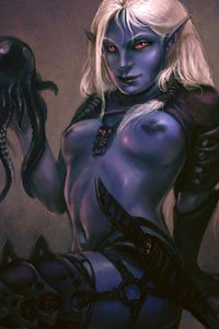 Guido Kuip's dark and devious Drow maiden.