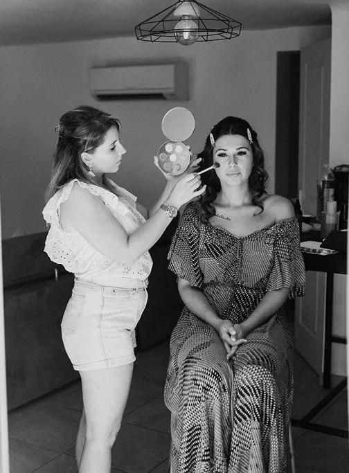 préparation en maquillage de la mariée à Cherbourg en Normandie