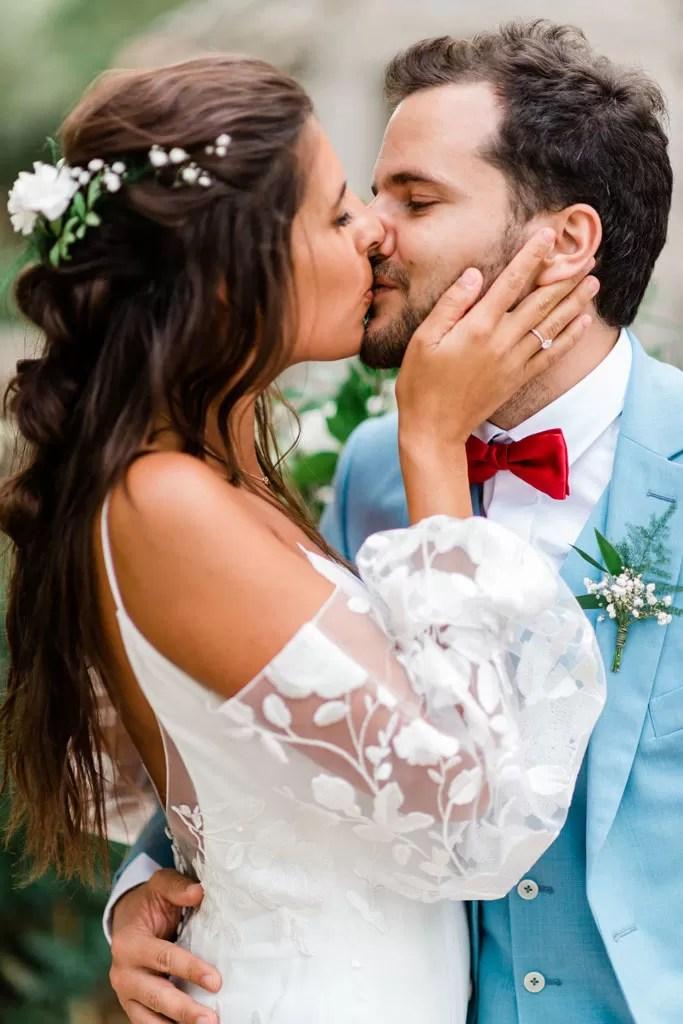 portrait photo de couple mariés mariage cherbourg normandie