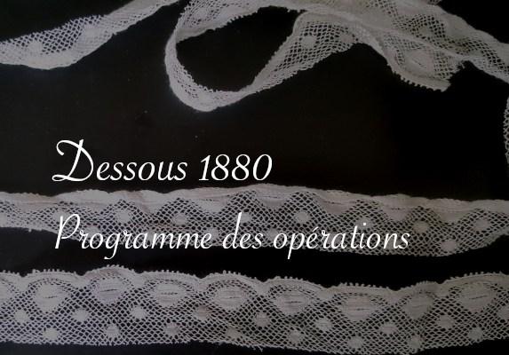 Dentelle pour dessous 1880 à venir - Carnet de recherches de Lucie Choupaut