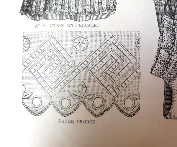 Bande brodée, La Mode Illustrée, 22 août, 1880