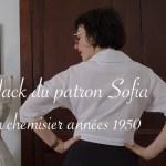Hack du patron de la robe Sofia en chemisier années 1950 - Carnet de recherches de Lucie Choupaut
