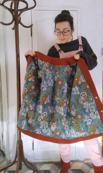 doublure du manteau Gérard en coton imprimé floral