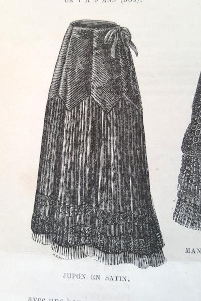 Jupon en satin, La Mode Illustrée, 7 novembre 1880