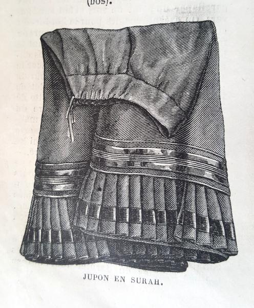 Jupon en surah, La Mode Illustrée, 5 septembre 1880