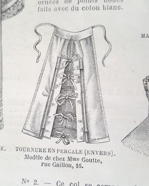 Tournure en percale, La Mode Illustrée, 22 août 1880
