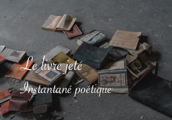 Photos de livres jetés - Poésie instantané de Lucie Choupaut