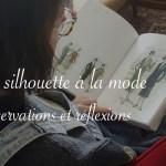 Personne qui lit un livre d'illustration de mode des années 1920 - Silhouettes à la mode Carnet de recherches de Lucie Choupaut
