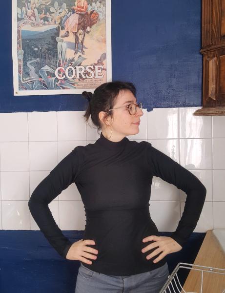 col montant dressed noir