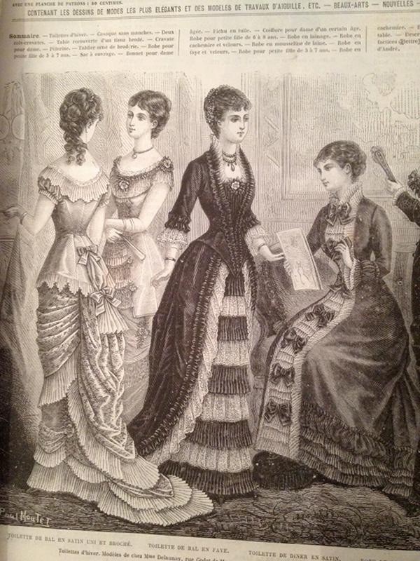 robes de bal et de dîner 1880