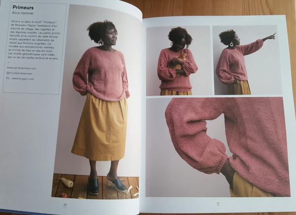 pull primeur d'Alice Hammer Knit eat book
