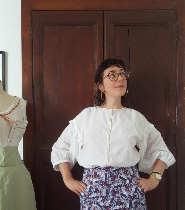 ma deuxième blouse Elo en mousseline blanche