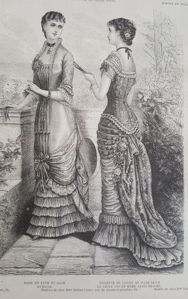 toilette de casino La Mode Illustrée 27 juin 1880