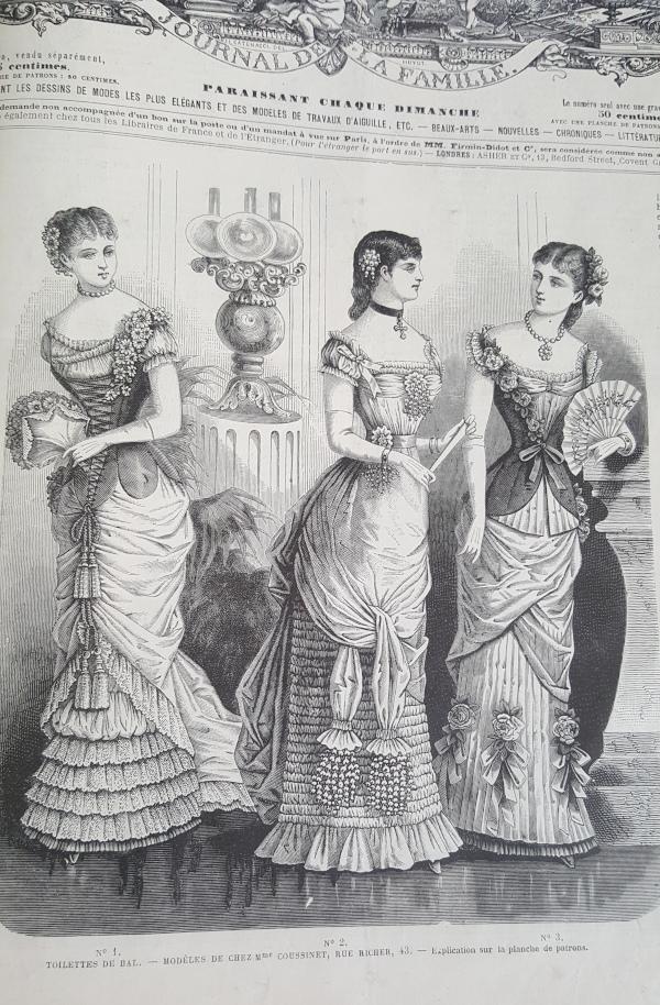 Toilettes de bal, La Mode Illustrée, 21 novembre 1880