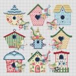 Bird House Sampler Cross Stitch Pattern
