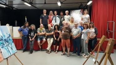 Les rencontres de Maubourguet 2017 : Quelques artistes invités posent pour une photo souvenir
