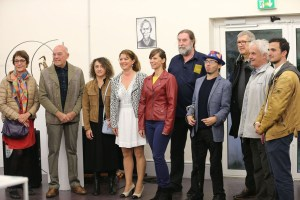 Les artistes du 45ème salon de Boutigny sur Essonne dont Lucie LLONG, artiste peintre du mouvement et invitée d'honneur