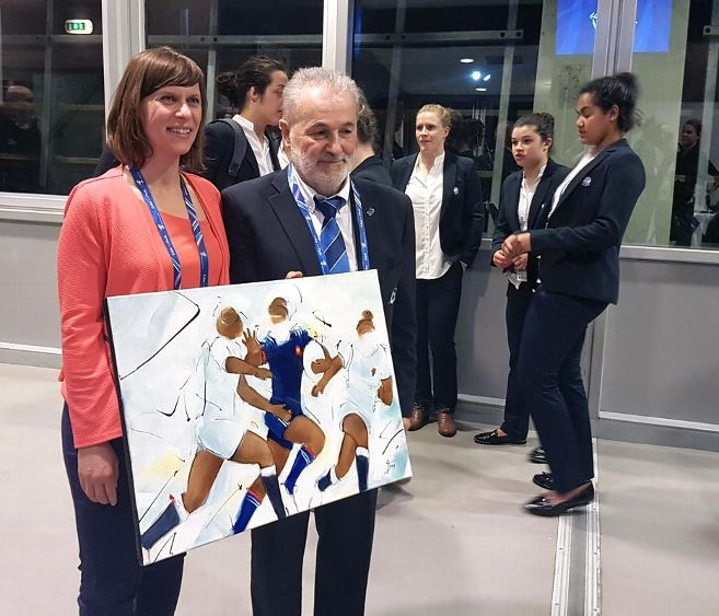 article exposition de peinture rugby stade des alpes grenoble tournoi des 6 nations 2018 France Angleterre